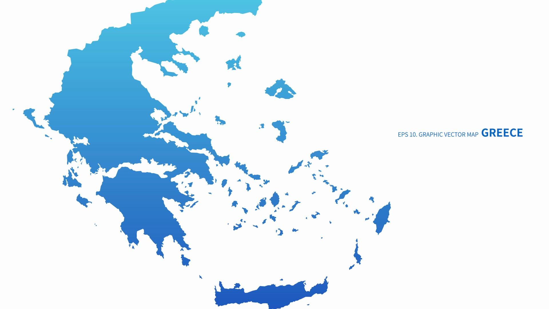 Cartina della Grecia e delle sue colonie, Ionia sulla destra
