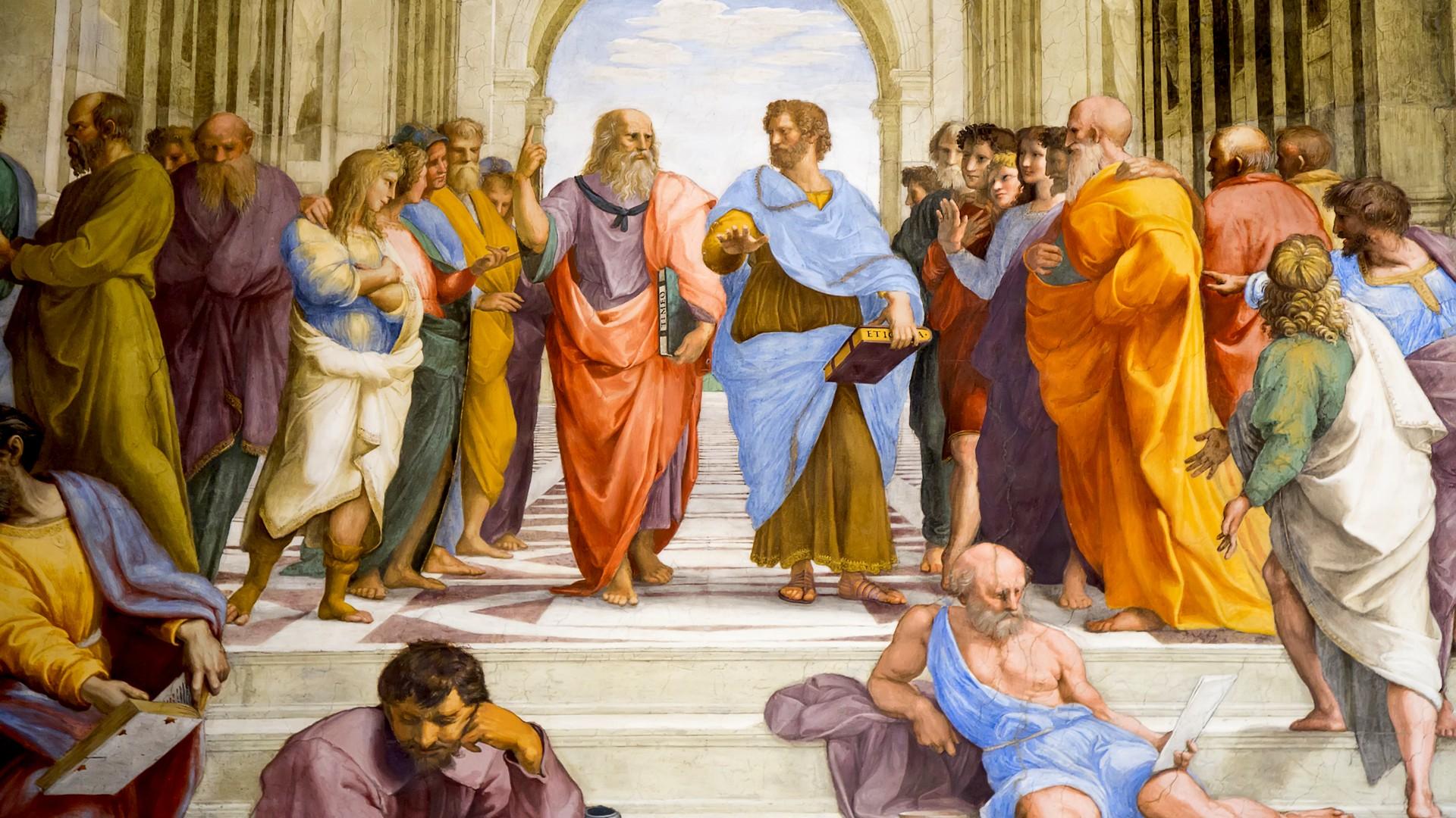 Aristotele chiude il capitolo della Scuola di Atene